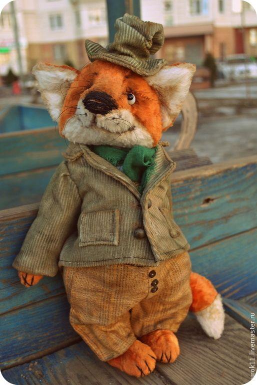 Купить Шульц - рыжий, лиса, лис, лиса тедди, лиса игрушка, авторская игрушка