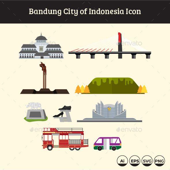 Bandung City Of Indonesia Icon Bandung City Bandung Indonesia