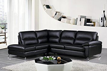 cortesi home contemporary boston genuine leather sectional sofa with rh pinterest com