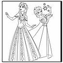 lots of free anna-and-elsa Coloring Pages