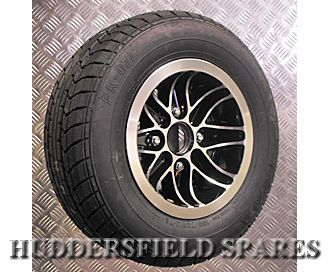 6x10 Cosmic Black Alloy Wheel Only for Classic Mini - Huddersfield Spares Limited