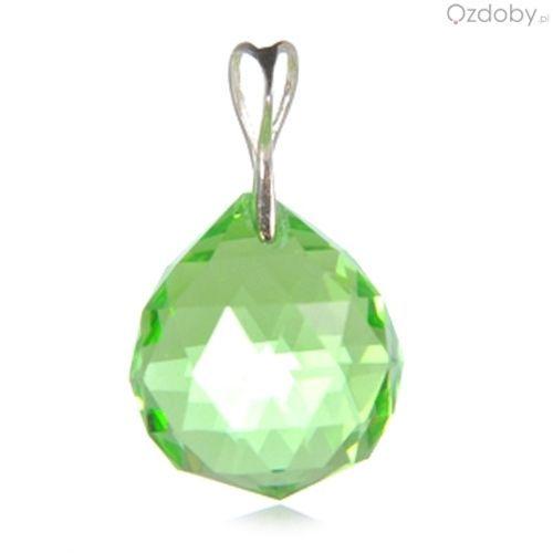Zielona zawieszka w kształcie kulki