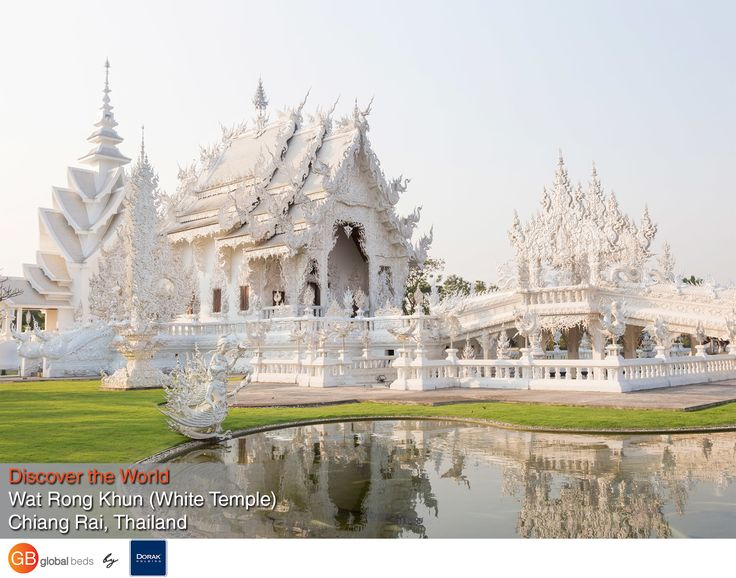 Everything is decorated with broken mirror mosaic pieces. The best time to visit Wat Rong Khun is at sunrise or sunset. When the morning sun shines the view is blinding.  #onlinebookingsystem #FIT #WatRongKhun #ChiangRai #WhiteTemple #Temple #Thailand #discovertheworld #instadaily #todayspost #view #viewoftheday #views #picoftheday #DorakHolding #GB #GlobalBeds