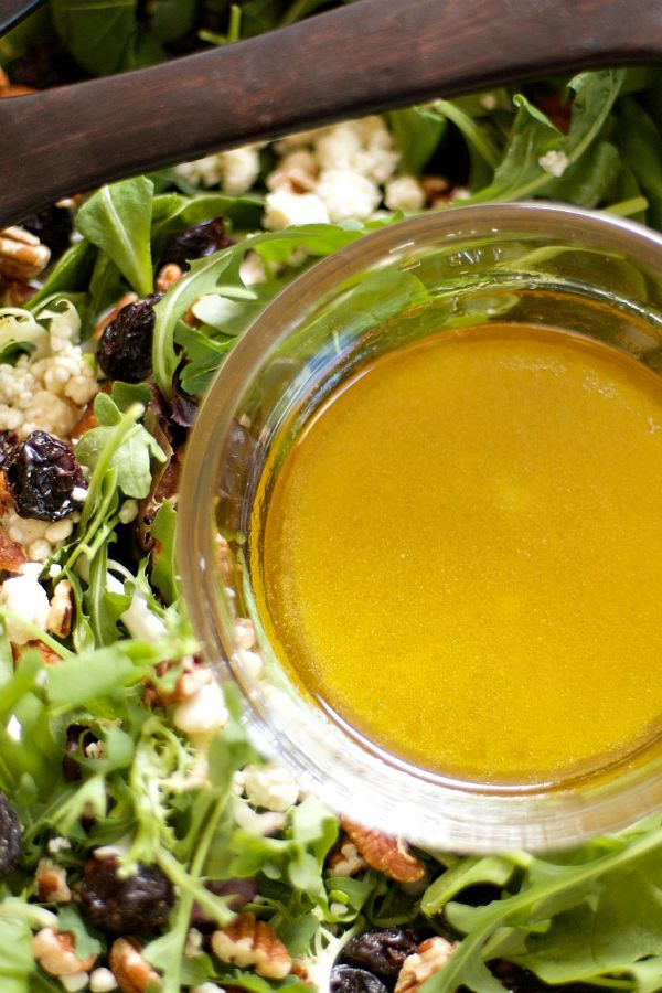 """Today I'm excited to share my Citrus Honey Vinaigrette salad dressing recipe."" The best dressing!"