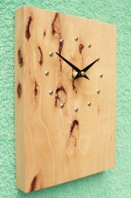 Rustic Beech Wall Clock
