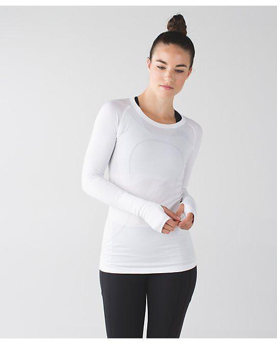 swiftly tech long sleeve crew | women's long sleeve running tops | lululemon athletica
