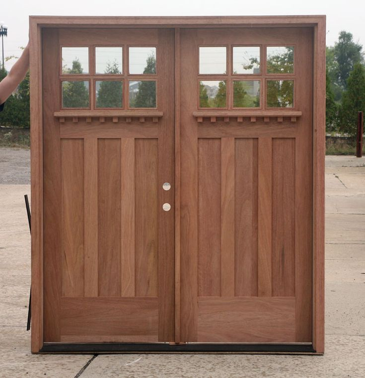 Craftsman 7 39 double door for sale home other for Solid wood exterior doors for sale