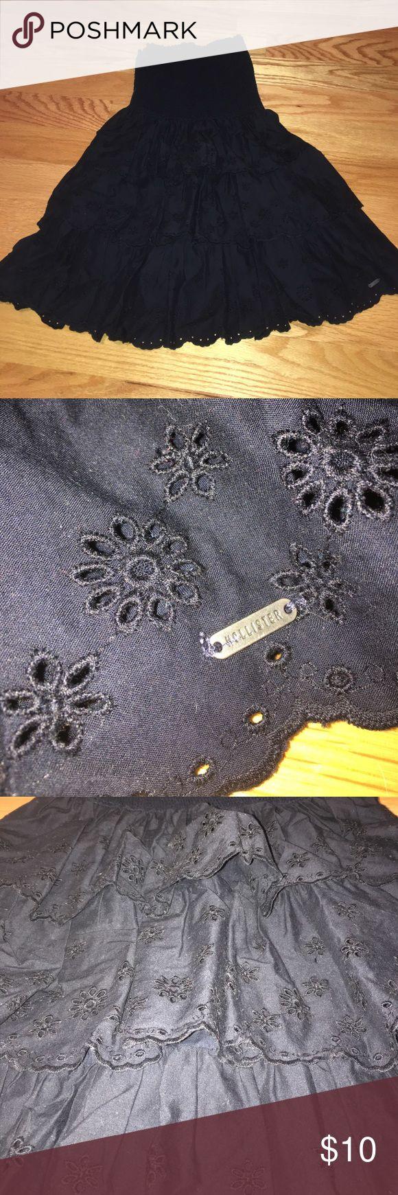 Strapless navy hollister dress Excellent condition! Hollister Dresses