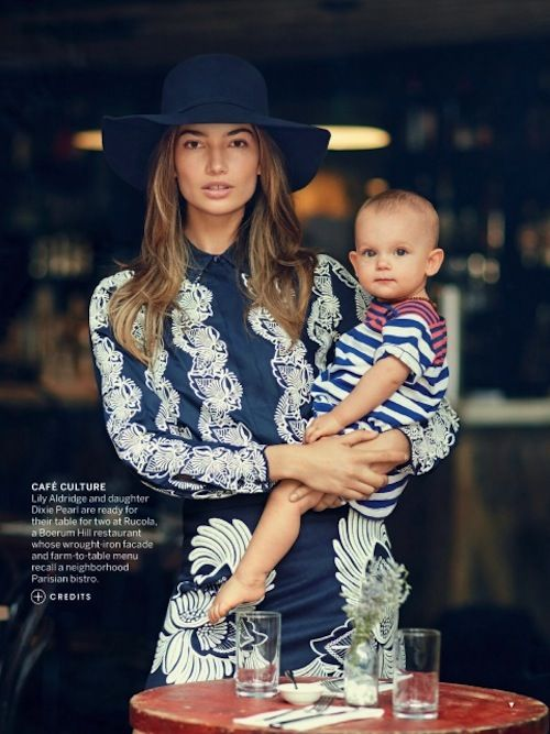 The stunning Lily Aldridge & adorable daughter Dixie Pearl - who looks so much like her Daddy (Caleb Followill of Kings of Leon) ;)