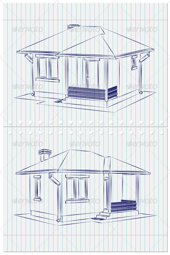 twa architectural drawing blueprint house