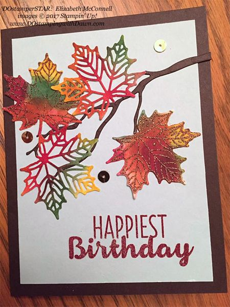 437 best cards autumn images on pinterest autumn cards fall handmade birthday card featuring stamped and die cut maple leaves made with the colorful seasons bundle bookmarktalkfo Images