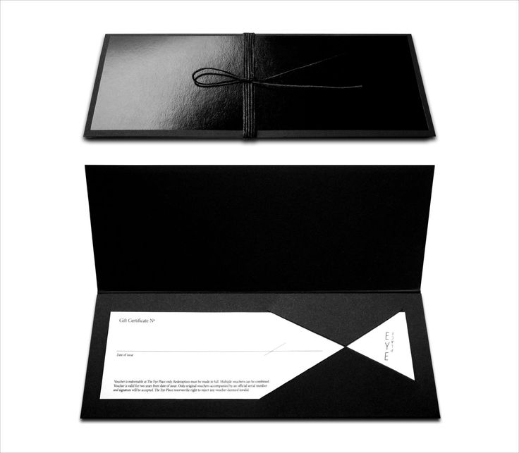 Gift Certificate by  http://www.andlarry.com/projects.php?cat=branding=eye_place