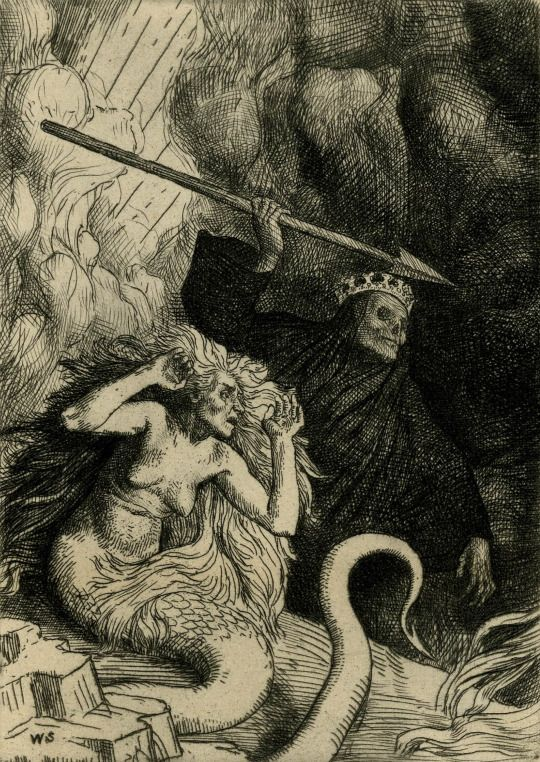 Paradise Lost: Sin And Death At The Gates Of Hell (d. 1895