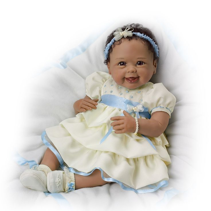 """Pretty In Pearls"" So Truly Real Baby Doll Lifelike Baby Girl Doll"