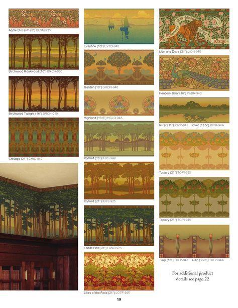 Arts & Crafts Collection of wallpapers at Bradbury & Bradbury.  I'm LOVING the peacock...
