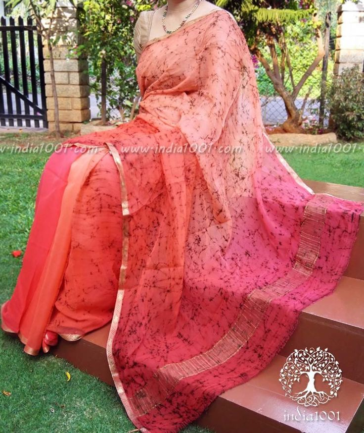 Designer Half & Half Chiffon Saree