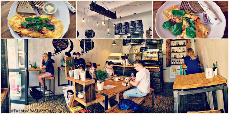 Gossip Cafe is hard to miss, very visibly located on the intersection of the Filharmonia (Kraków's Filharmonic Building). It's right next to the Radisson Blue Hotel and it's shaped in a one - room small meeting place for food enthusiasts who need a quick brunch and are ok with slightly different setups.