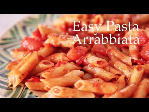 Easy Pasta Arrabbiata by Deliciously Ella - YouTube Didn't have thyme, so added some basil. Aldo added green olives. Very yummy!