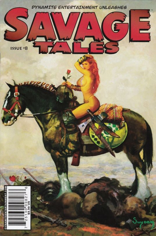 Savage Tales no. 8 (2008) cover art by Arthur Suydam