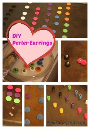 diy perler earrings