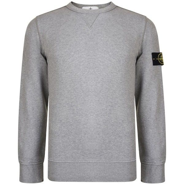 STONE ISLAND Badge Crew Sweatshirt (205 CHF) ❤ liked on Polyvore featuring tops, hoodies, sweatshirts, long sleeve tops, crew-neck tops, crew neck sweatshirts, stone island and stone island sweatshirt