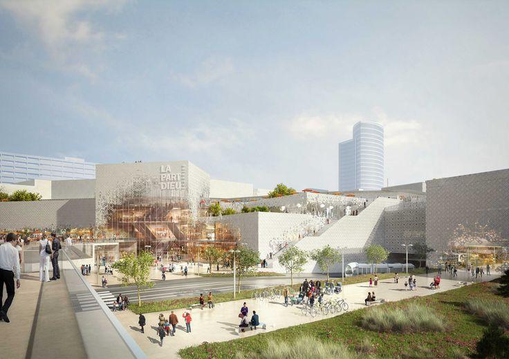 Le 29 février le projet de réaménagement du centre commercial de la Part-Dieu a été présenté à la presse.