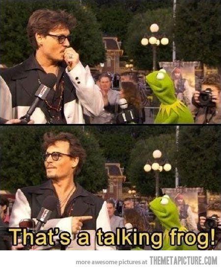 Johnny Depp's sudden realization…