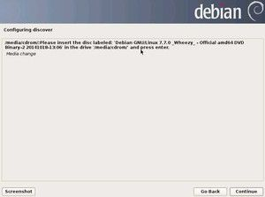 23. Configure package manager - Media Change - DVD2