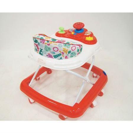 Детские ходунки 107В, красные, RiverToys  — 3850р. ------------- Детские ходунки 107ВОтличное качество пластика,  силиконовые колёса, мягкое сиденье, игровая  музыкальная панель и регулируемая высота  от пола.