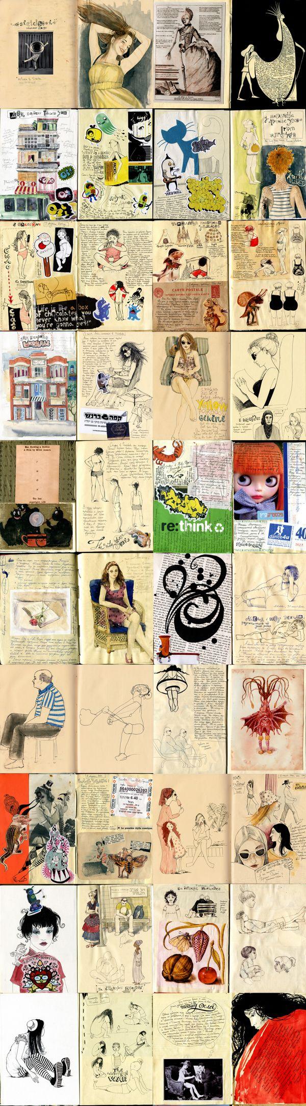 Diaries and workbooks, 2011-2014 by Sveta Dorosheva, via Behance