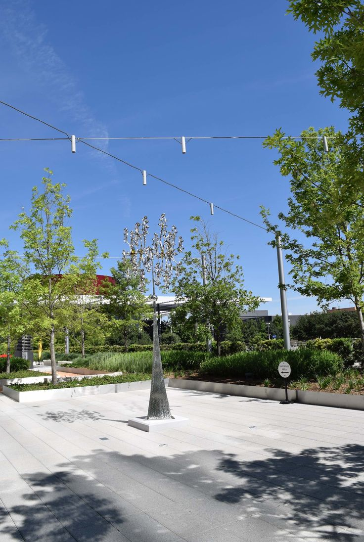 Sculpture Garden Catenary Lighting at the Hall Arts Center - Ronstan Tensile Architecture & 88 best Catenary Lighting images on Pinterest   Houston and Hall azcodes.com