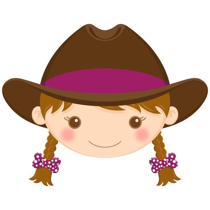 Brown hair cowgirl