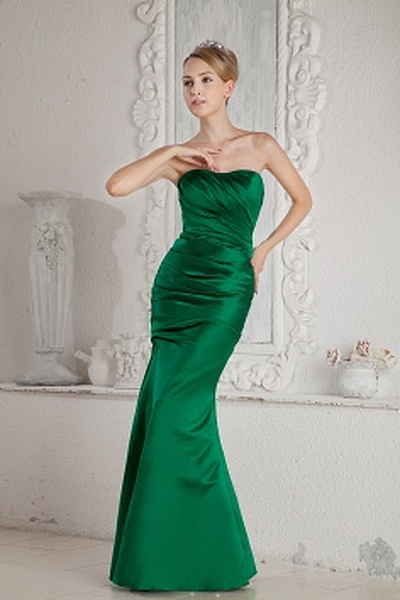 Trumpet-Mermaid Satin Classic Homecoming Dresses wr1827 - http://www.weddingrobe.co.uk/trumpet-mermaid-satin-classic-homecoming-dresses-wr1827.html - NECKLINE: Sweetheart. FABRIC: Satin. SLEEVE: Sleeveless. COLOR: Green. SILHOUETTE: Trumpet/Mermaid. - 142