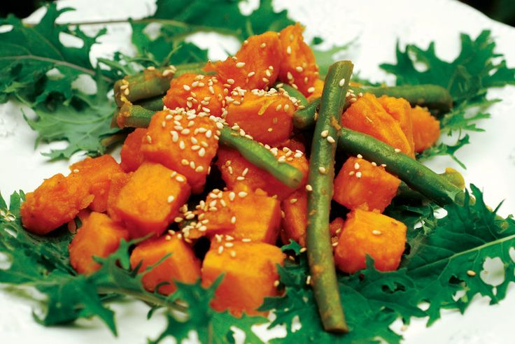 So sad that we're only finding this sensational sweet potato and green bean salad this year.