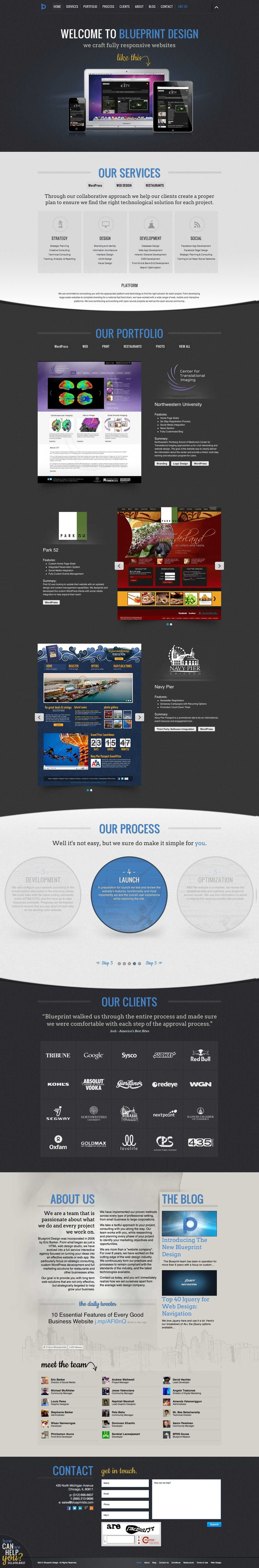 15 best modern web app website design images on pinterest the new soon to be responsive blueprint design studio web design in chicago malvernweather Images