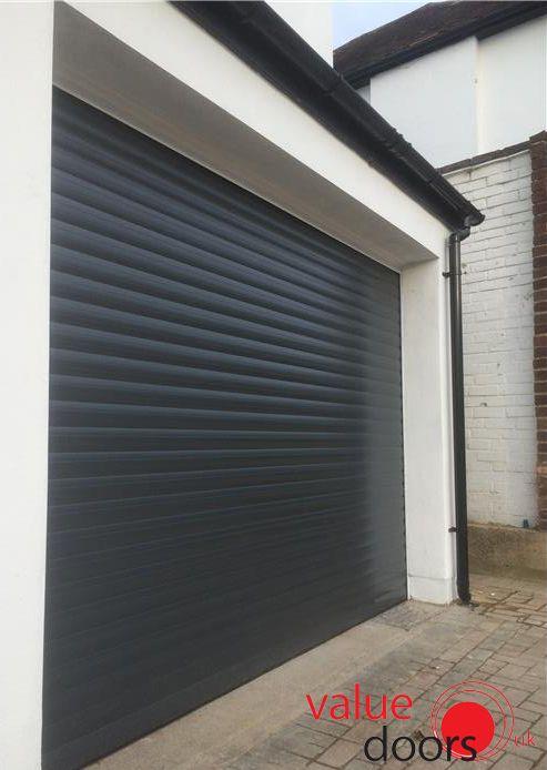 One of our Roller Shutter Garage Doors in Black!