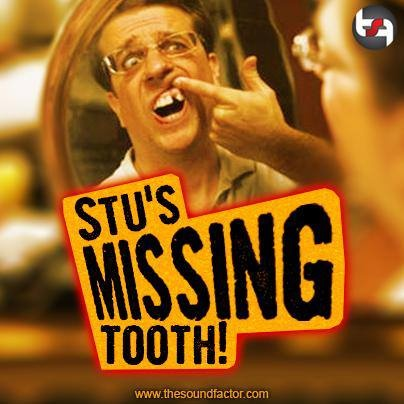 In the movie The Hangover, no effects or prosthetics were created for Stu's missing tooth. Actor Ed Helms never had an adult incisor grow, and his fake incisor was taken out for the parts of filming where Stu's tooth is missing.