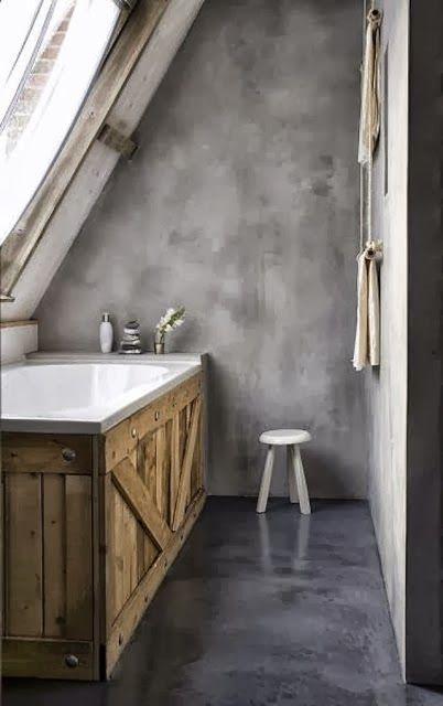 Des palettes dans la salle de bain / Pallets in the bathroom