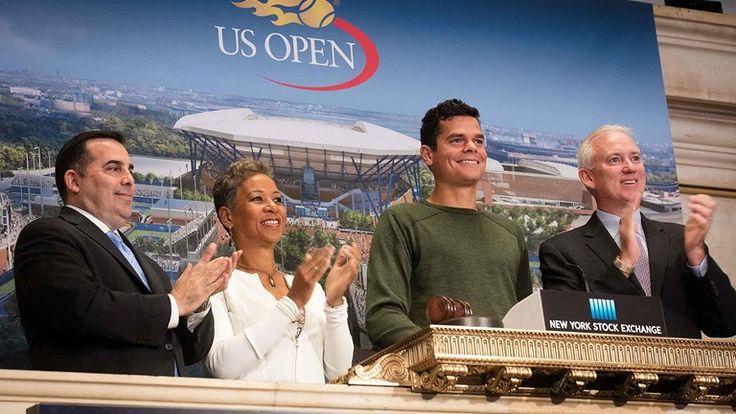 #atp #tennis #news  Raonic Rings Opening Bell At NYSE