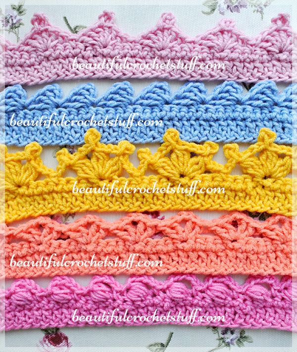 So, you just finished your crochet project and want to give it a finished look? Crochet borders will surely help you with this! There are thousands of crochet edgings that you can find on the Inte