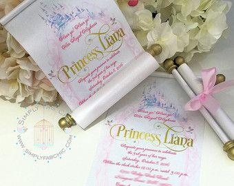 Disney princesa jazmín desplazamiento invitación por SimplyFabChic