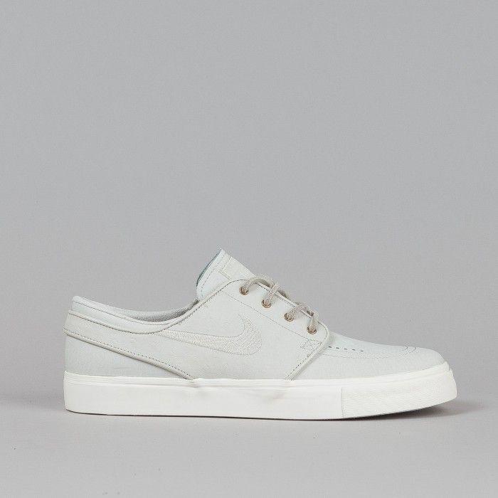 Nike SB Stefan Janoski PREM Shoes Light Bone / Light Bone - Sail   Flatspot