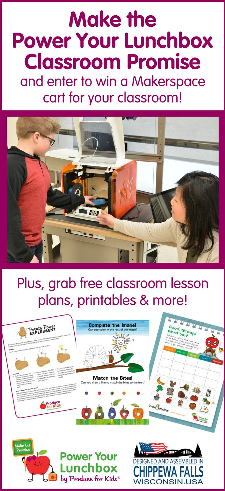 Make the Power Your Lunchbox Classroom Promise & enter to win a Makerspace cart for your classroom. Plus grab free classroom activities, lesson plans and more! #STEM #Classrooms