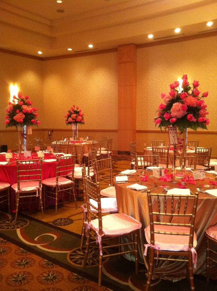 Pink and gold decoration for quinces pinkandgold