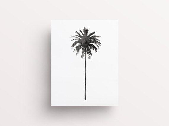 Palm Tree Print Watercolor Palm Tree Print Botanical Print Palm Leaf Print Palm Tree Art Watercolour Palm Palm Tree Art Palm Leaves Print Palm Tree Print