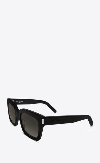 c939072d40f SAINT LAURENT BOLD D bold 1 sunglasses in shiny black acetate with grey  gradient lenses b V4