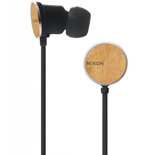 Nixon Wire 8mm Headphones Wood | Headphones | SolsticeSupply.com | Sale