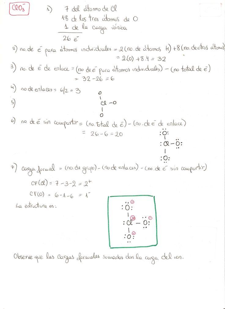 Estructura de Lewis del ion clorato (ClO3-)