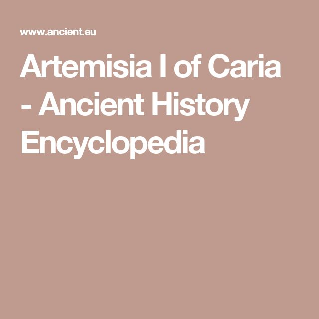 Artemisia I of Caria - Ancient History Encyclopedia