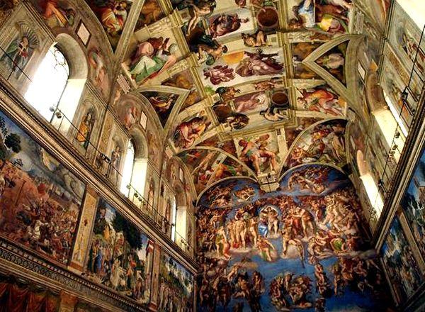 Les 25 meilleures id es de la cat gorie chapelle sixtine sur pinterest le vatican vatican - Michel ange chapelle sixtine plafond ...